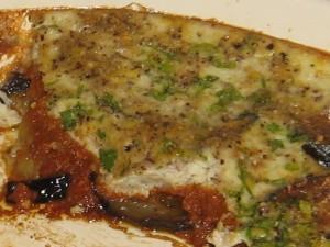 Eggplant Gratin with Sun-Dried Tomato Marinara