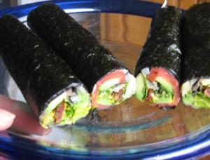 """Uncut Italian """"Sushi"""" rolls"""